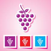 Vector illustration of isolated fruit icon Grapes — Stock Vector