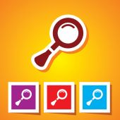 Search icon. Magnifying glass — Stock Vector