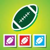 American football ball symbol — Stock Vector