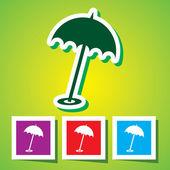 Beach parasol, 10eps — Stock Vector