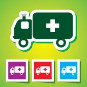 Colourful editable icon of Ambulance — Stock Vector