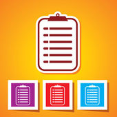 Colourful editable icon of medical record clipboard — Vecteur