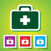 аптечка. медицинский чемодан — Cтоковый вектор