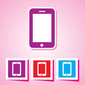 Colourful editable icon of mobile phone Vector Illustration EPS 10 — Stock Vector