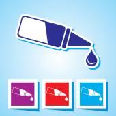 Colourful editable icon of Eye Drop — Stok Vektör