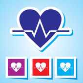 Colourful editable icon of Heart Beat — Stockvektor