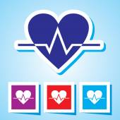 Colourful editable icon of Heart Beat — Stockvector