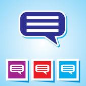 Editable vector icon of speech Bubble — Stok Vektör