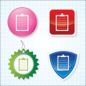 Icon of Clip Board on for Different Buttons. Eps-10. — Stock Vector