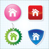 Icon of Home on for Different Buttons. Eps-10. — Stockvektor