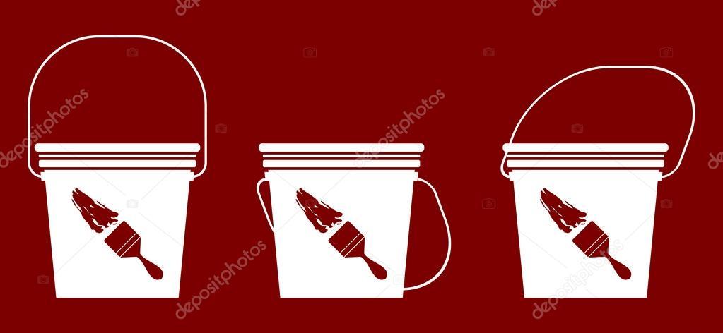 Paint Bucket Vector Vector Illustration of Paint