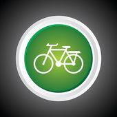 Ikon cykel på knappen. eps-10. — Stockvektor