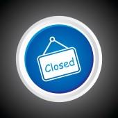 значок закрытого на кнопку. eps-10. — Cтоковый вектор