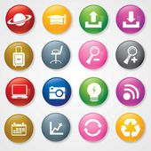 Very Useful & Attractive Colorful Icons For Web & Mobile on — Stock Vector