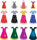 Set of Frock dresses — Stock Vector