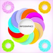 Circle Infographics Design. Eps-10. — Stock Vector