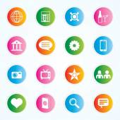 Very Useful & Attractive Colorful Icons For Web & Mobile on Buttons. Eps-10. — Stock Vector