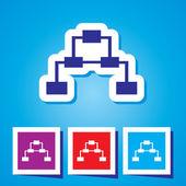 Team network symbol — Stock Vector