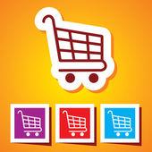 Vector Icon of Shopping Cart — Stock Vector