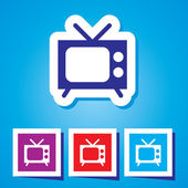 A vector icon with tv — Stock Vector