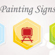 3 Painting Icons — Stock Vector #54649001
