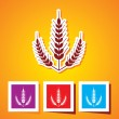 Editable vector icon of Ears of Wheat — Stock Vector #54649599