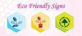 3 Eco Friendly Icons. — Stock Vector
