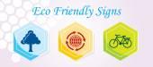 3 Eco Friendly Icons — Stock Vector