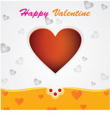 Happy Valentines Day card. Eps-10. — Vector de stock