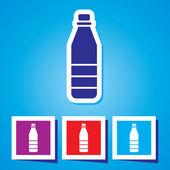 Icon of plastic water bottle — Stock Vector