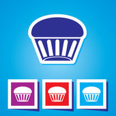 Cupcake - Vector icon isolated — Stock Vector