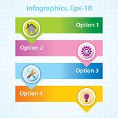 4 Options. Infographics. Eps-10. — Stock Vector