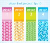 4 Options with Pattern Background. Infographics. Eps-10. — Stock Vector