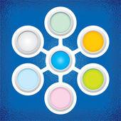 Vector color circle infographics — Stock vektor