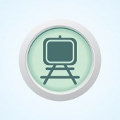 Editable Vector Icon of Painting Stand on Button. Eps-10. — Stockvektor