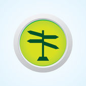 Editable Vector Icon of blank road sign on Button. Eps-10. — Stock Vector