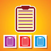 Colourful editable icon of medical record clipboard — Vettoriale Stock