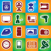 Colourful Icon Set Of Home Appliances — Stock Vector