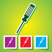 Colourful icon of Screw Driver — Stock Vector