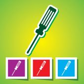 Colourful icon of Screw Driver — Stockvektor