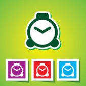 Colourful icon of Clock — Stock Vector