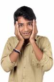 Beautiful Young Indian Boy with wow expression. — Stock Photo