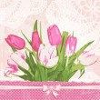 Vintage greeting card with tulips — Stock Vector #52560241