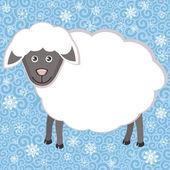 Cute owiec. Symbol nowy rok 2015 — Wektor stockowy