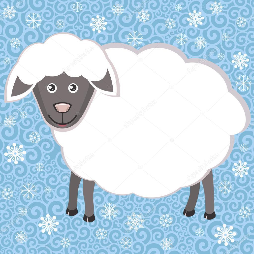 Symbol Sheep Sheep Symbol of New Year 2015