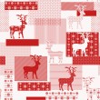 Seamless pattern with nordic reindeer — Stock Vector #60549703