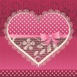 Valentine card with lace heart — Stock Vector #64327755