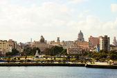 View from the fort Castillio el Morro on the capital Havana — Stock Photo