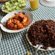 A variety of typical Cuban food on the table — Stock Photo #71515523
