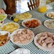 A variety of typical Cuban food on the table — Stock Photo #71515573
